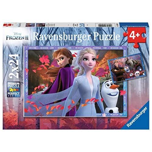 Ravensburger Frozen 2 Puzzle 2x 24 Pezzi, Multicolore, 05010