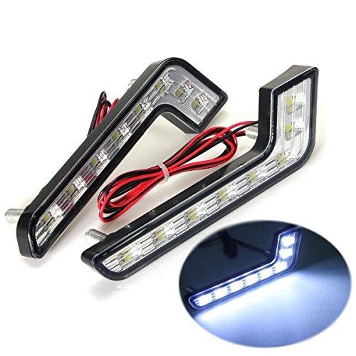 KaTur Beleuchtung für M ercedes-B enz, 2 x 8DRL-Leuchten im LED-Stil, 12 V, Auto-Beleuchtung, Tagfahrlicht, Scheinwerfer, Nebelscheinwerfer, weiß