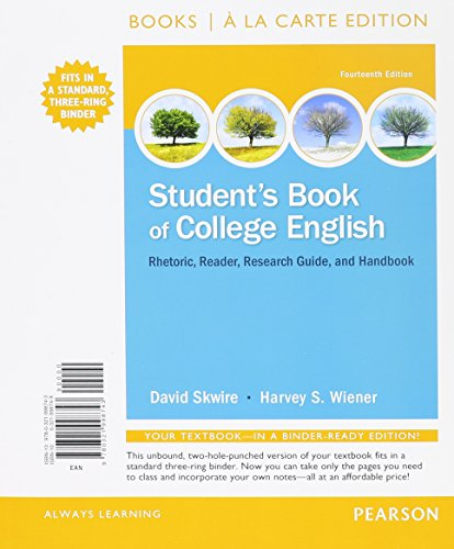 Student's Book of College English, Books a la Carte Edition Plus MyWritingLab with Pearson eText -- Access Card Package
