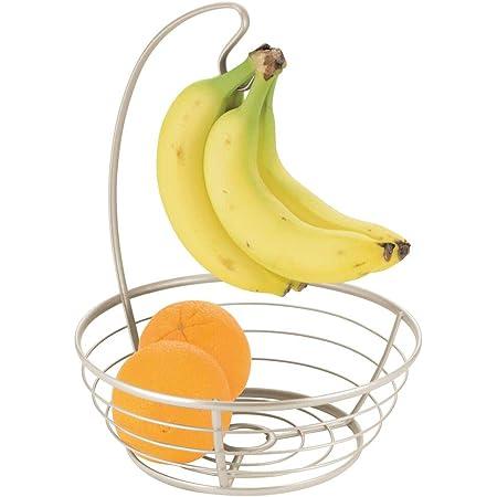 Obstaufbewahrungskorb mit Bananenhaken kreative Heimdekoration AKlamater Obstschale aus Eisengitter Bananenregal
