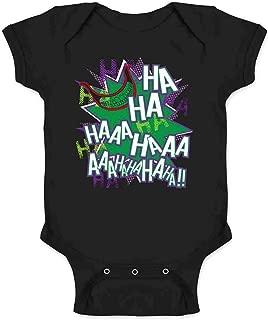 Maniacal Villain Laugh HA HA HA Funny Infant Bodysuit