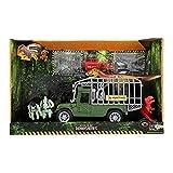 Toi-Toys 37502A World of Dinosaurs - Set da gioco con dinosauri e veicolo con suono