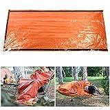 01 Saco de Dormir de Emergencia, Saco de Dormir de sobre Multiusos, Aislamiento Naranja para Viajes Montañismo Senderismo Camping