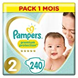 Couches Pampers Taille 2 (4-8 kg) - Premium Protection Couches, 240 couches