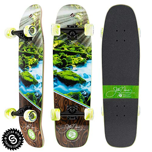 Sector 9 Longboards Cruiser Complete Skateboard Cascade Ninety Five 8.75