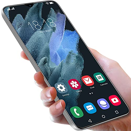 Telefono Movil S12 Android 11 Teléfono Móvil 6.7', 4GB + 64GB, 6800mAh Baratos Smartphone, Cámara 50MP +cámara 32MP, Ranura para 2 Tarjetas, Huella Digital, 5G Dual SIM,White