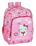 SAFTA Zaino scuola adattabile a carrello di Hello Kitty Balloon, 310 x 140 x 410 mm