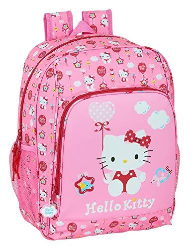 safta Mochila Escolar Adaptable a Carro de Hello Kitty Balloon, 310x140x410 mm