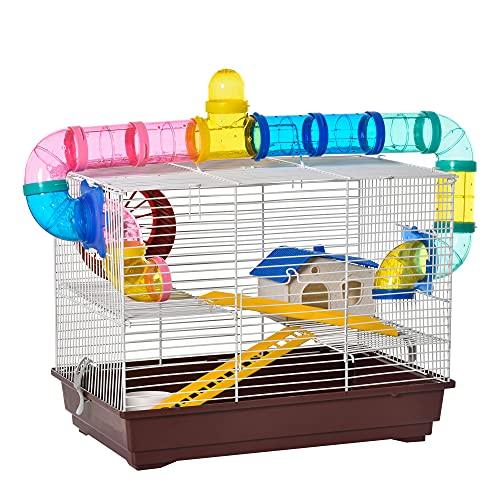 PawHut - Jaula para Hamster, Casa para Ratoncillos...