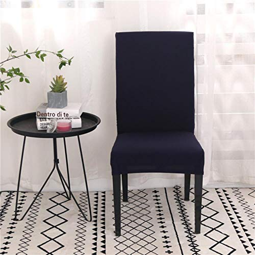 Ltong Solid Color Chair Cover Spandex Stretch Elastic slipcovers Chair Covers White for Dining Room Kitchen Wedding Banquet Hotel,Navy,Universal Size