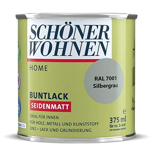 DurAcryl Buntlack Silbergrau 375 ml RAL 7001 Seidenmatt Schöner Wohnen