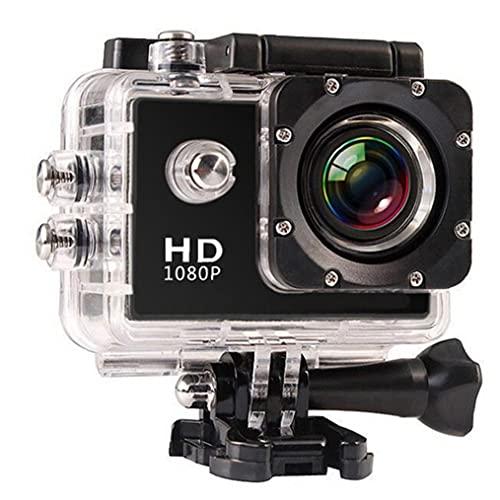 Tuimiyisou Macchina fotografica di Sport HD 1080P subacquea portatile impermeabile Conveniente e Non facile da rompere macchina fotografica di Azione DV Kit per il viaggio esterno Nero