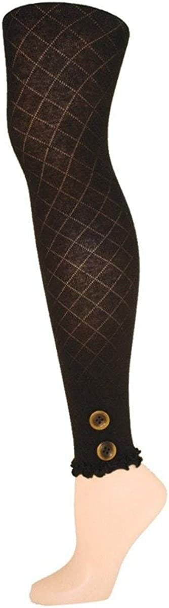 MeMoi Miss Buttons Footless Sweater Tights