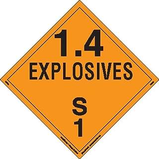 Labelmaster PSR76 Explosive Class 1.4 S Hazmat Placard, Removable Vinyl (Pack of 25)