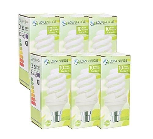 11 W (=65W) ahorro de energía espiral 2700 K blanco cálido