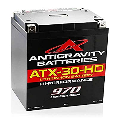 Antigravity Batteries ATX30-HD Heavy Duty Lithium Ion Battery with Dual Polarity and Battery Management System (BMS) - 970 CCA 7.81 Pounds 48Ah - AG-ATX30-HD