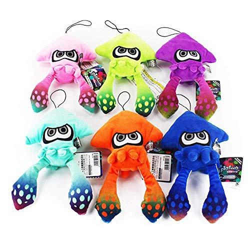 6Pcs Splatoon Plush Pillow Soft Stuffe'd Animal Japan Splatoon Bonhommd Plush Toys Doll for Children Birthday Gift 23cm LATT LIV