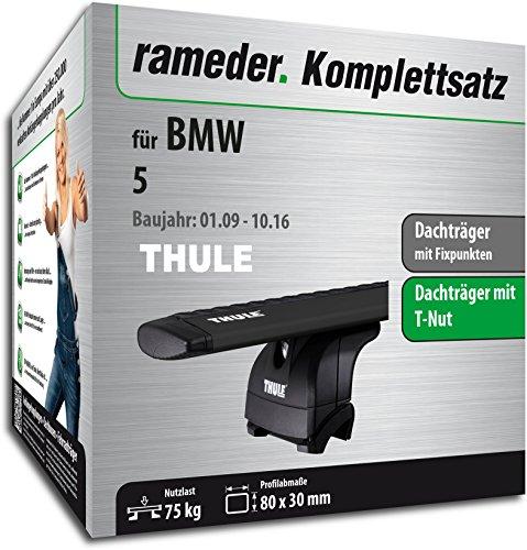 Rameder Komplettsatz, Dachträger WingBar EVO für BMW 5 (118337-08541-1)