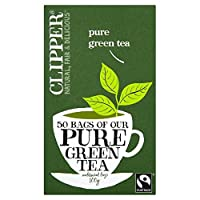 Clipper Fairtrade Pure Green Tea (50 per pack) クリッパーフェアトレード純粋な緑茶(パック当たり50 )