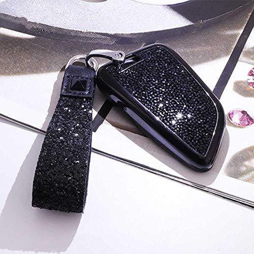 HJPOQZ Tenedor de Lujo de la Cubierta de la Caja de la Llave del Coche del Diamante, para BMW 2 7 Series X1 X5 X6 X5M X6M