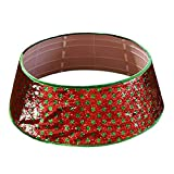 QTJUST Merry Christmas Tree Collar 30 inch Sequin Dot Xmas Tree Skirt Ring Base Cover Holidays New Year Decorations Christmas Tree Skirts Clearance