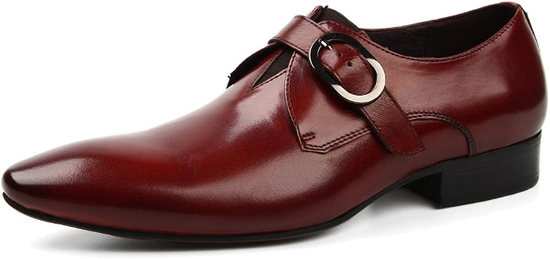 Manliga läderskor, formell klädsel med brittisk brittisk brittisk stil, spetsig mode, enkla bröllopsskor.  klassisk stil