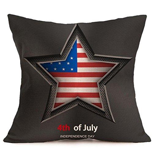 hlhn Vintage la bandera americana de Estatua de la libertad funda de almohada Pillowslip Funda para cojín de cintura manta para sofá hogar dormitorio tienda de café oficina coche Decor