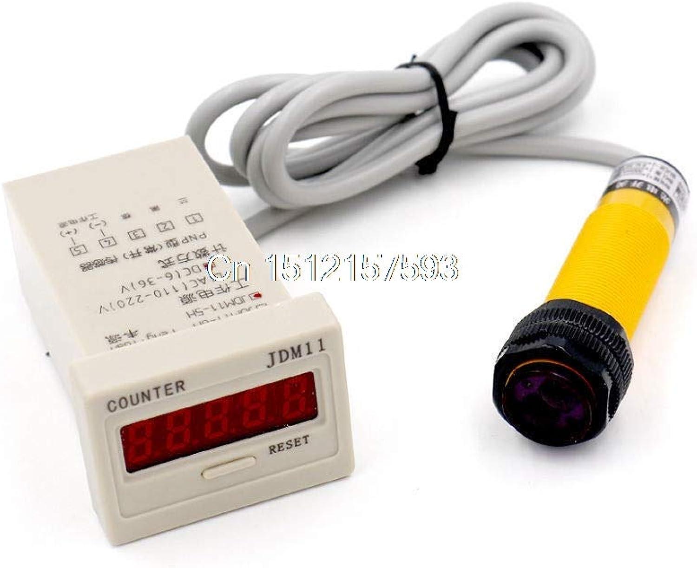 DC 3 Wire 636V PNP IR Photoelectric Sensor Switch 30cm E18B03P1 with Counter