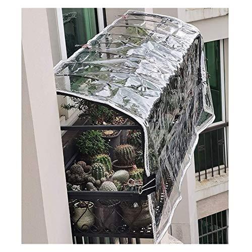 LSXIAO Lonas Transparentes, Lona De Polietileno Multiusos, Resistente Al Agua PVC De 0,3mm De Espesor con Ojales para Terraza, Pérgola, Carpa Al Aire Libre (Color : Claro, Size : 2x6m)