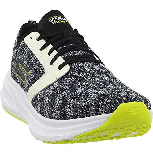 Skechers Women's GOrun Ride 7 Nite Owl High Visibility Shoe (8.5) White/Black
