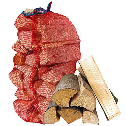 Münchner Brennholzsack: Brennholz Fichte - abgelagert & ofenfertig incl. 15 Anzünder CO2 neutral & umweltfreundlich (bis 30cm)