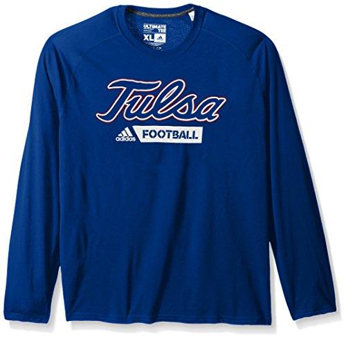 adidas NCAA Tulsa Golden Hurricane Adult Men Sideline Gridiron Ultimate L/S Tee, X-Large, Collegiate Royal