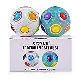 CPSYUB Rainbow Magic Ball Cube 2 Pack Magic Rainbow Ball Fidget Sensory Ball Brain Teasers Games for Puzzle...
