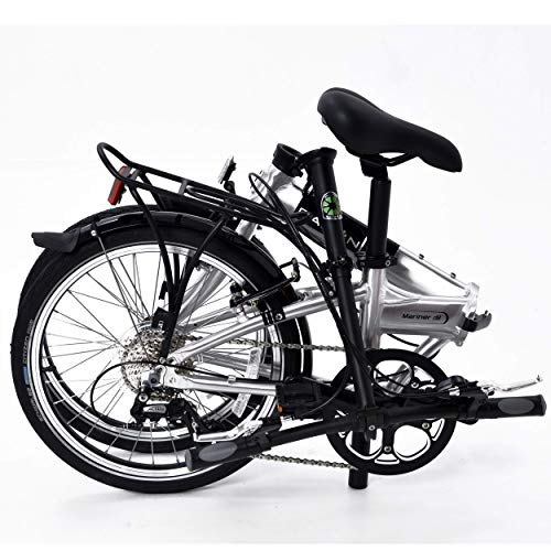 """Dahon Mariner D8 Folding Bike, Lightweight Aluminum Frame; 8-Speed Shimano Gears; 20"""" Foldable Bicycle for Adults"""