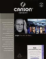 Canson infinity - フォトラグデュオ - 206211016 - フォト用紙 - A4サイズ - 25枚 - ホワイト