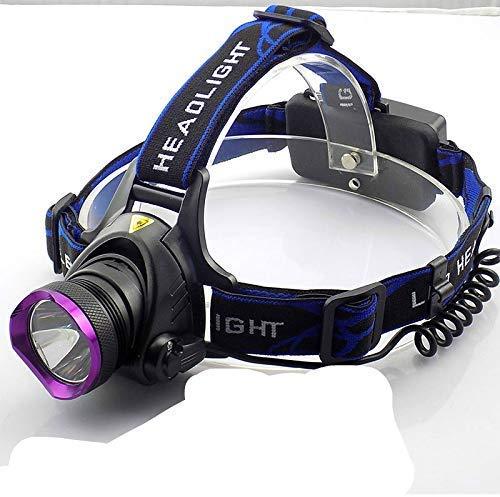 Linterna Frontal,Xm-l T6 Linterna Frontal LED 2000 LM Linterna Frontal Linterna Antorcha + Cargadores de CA