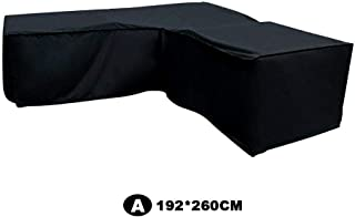 perfecthome 210D Outdoor Furniture Cover, Left L-Shaped Corner Sofa Waterproof and Dust Cover Black