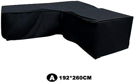 Loungem/öbel Abdeckhaube F/ür L-Form Sofas,Sofa Wasserdichte Staubschutzh/ülle,Wasserdichtes Atmungsaktives,Wasserdicht Schutz Vor Wind UV Sch/ützende