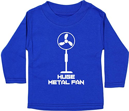 Hippowarehouse I'm a Huge Metal Fan Baby Unisex t-Shirt Long Sleeve Royal...
