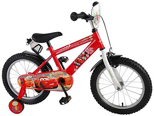 Cars Disney Fahrrad 16 Zoll Jungen Kinderrad Kinder Kinderfahrrad mit Stützräder