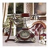 FTFTO Living Equipment Teléfono de Madera clásico con Tarjeta inalámbrica Teléfono Fijo de Resina Retro con Pantalla LCD Decoración de Escritorio de Oficina en casa Classicalwood