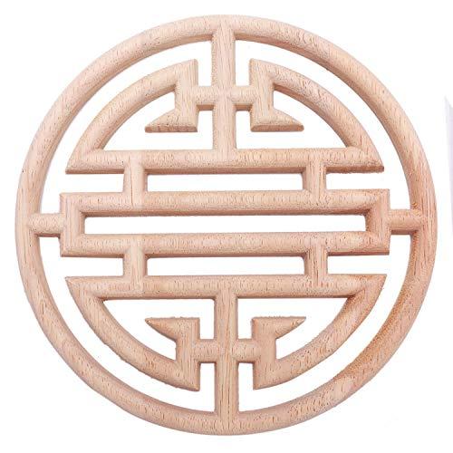 ACAMPTAR - Aparato de madera tallado de estilo europeo vintage, diseño de madera tallada