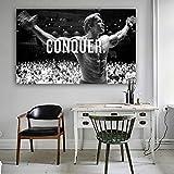 Conquista Arnold Schwarzenegger Bodybuilding Motivational Quote Art Canvas Poster Print Wall Picture...