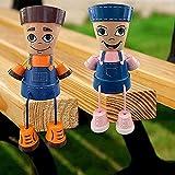 ZLHW Maceta de barro para personas, maceta de barro para niños de campo, maceta creativa para niños y niñas en 3D, para interiores y exteriores, jardín, resina, para niños de campo, macetas de barro p
