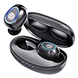Wireless Earbuds, Cystereo Fusion Bluetooth 5.0 Earbuds, in-Ear Headphones with Mic, AptX, Deep Bass, IPX 7 Waterproof, Touch Control, CVC 8.0 Noise Reduction, USB-C Charging Case, for Sports, Office