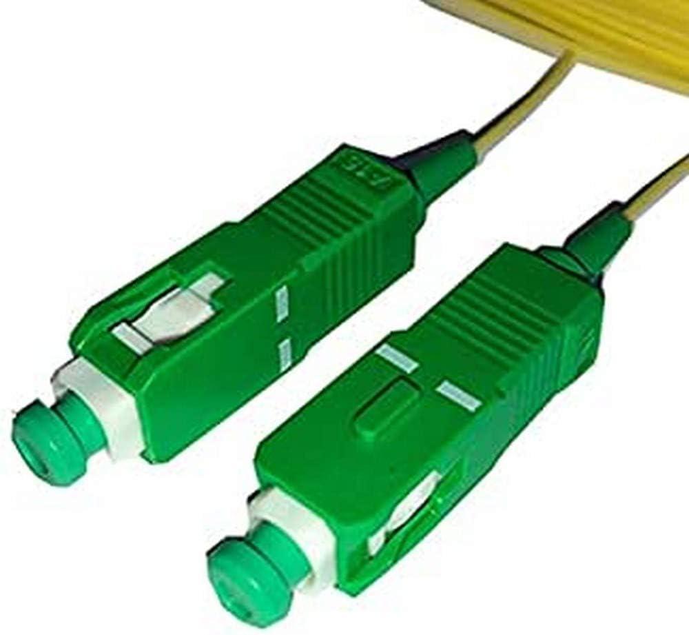 Powergreen FIB-01050-SC Latiguillo Fibra Óptica SC/APC-SC/APC Simplex 9/125 Monomodo 5M