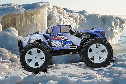 RC Auto kaufen Monstertruck Bild 3: Jamara Tiger Ice Monstertruck 1:10 4WD NiMh 2,4G LED - Allrad, Elektroantrieb, Akku, 35Kmh, Aluchassis, spritzwasserfest, Öldruckstoßdämpfer, Kugellager, Fahrwerk einstellbar, fahrfertig*