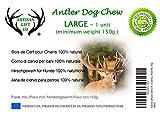 Hundesnack Rothirsch Geweih Kausnack – große Größe (L) Mindestgewicht 150 Gramm - 2