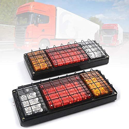 FEENGG 40 LED Pilotos Traseros para Remolque Homologado Impermeable Luces Traseras Luz de Matricula Luz de Freno para Remolque Caravana Camión Tractor Barco(2PCS)