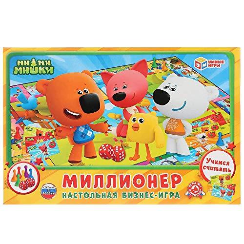 Family Economy Game Millionaire. Mi-Mi-Mishki Board Game Developmental Game